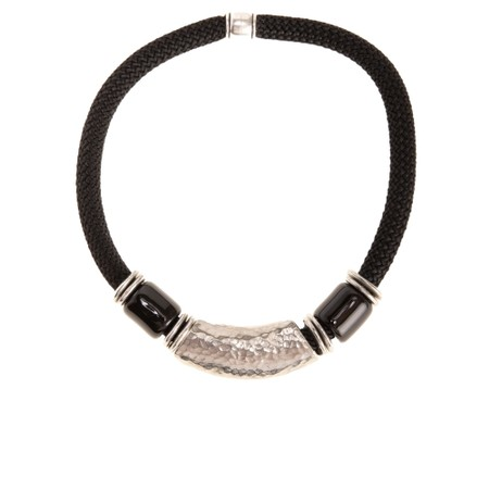 Strata Capricorn Short Necklace - Black