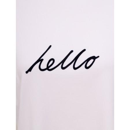 Chalk Darcey Hello Top - White