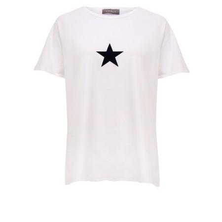 Chalk Darcey Small Star Top - White