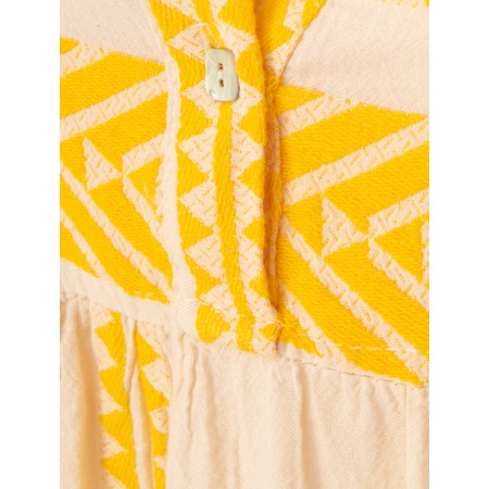 TOC  Ella Greek Style Tunic Dress - Yellow