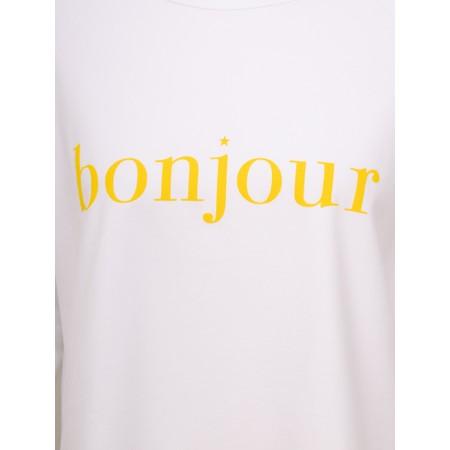 Chalk Tasha Bonjour Top - White