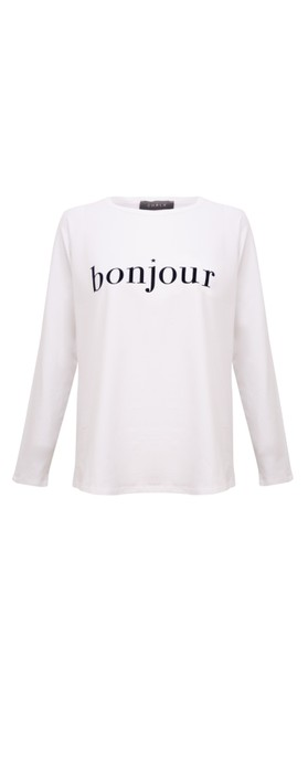 Chalk Tasha Bonjour Top White / Navy