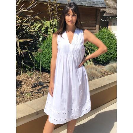 Orientique Broderie Dress - White