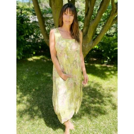 TOC  Demelza Floral Linen Dress  - Green