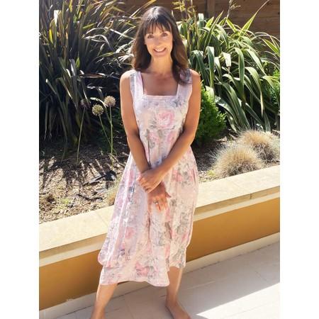 TOC  Demelza Floral Linen Dress  - Pink