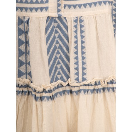 TOC  Della Greek Style Maxi Dress - Blue