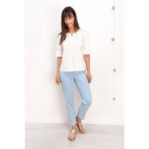 Bella 09 Light Blue Ankle Length Crop Cuff Trouser main image