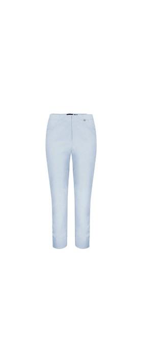 Robell Bella 09 Light Blue Ankle Length Crop Cuff Trouser Light Blue 160 / 611