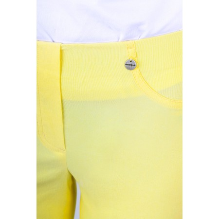Robell  Bella 09 Citrus Yellow Ankle Length 7/8 Cuff Trouser - Yellow