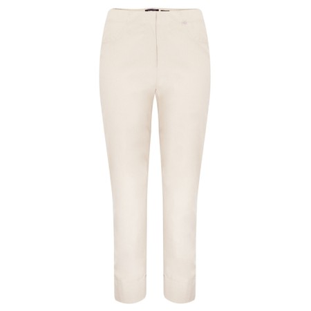 Robell  Bella 09 Sand Ankle Length 7/8 Cuff Trouser - Beige