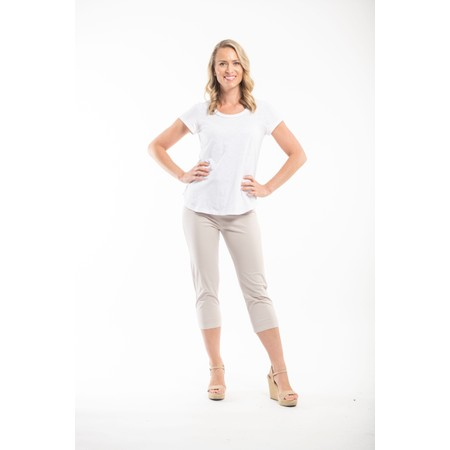 Orientique Bangalene Capri Trouser - Beige
