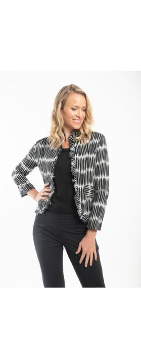 Orientique Rhodes Jacket  Black / White