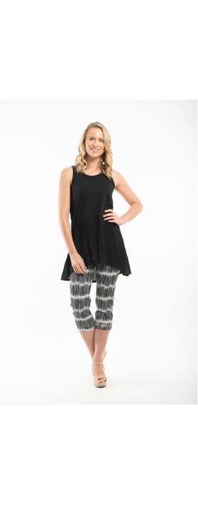 Orientique Rhodes Crop Trouser Black / White