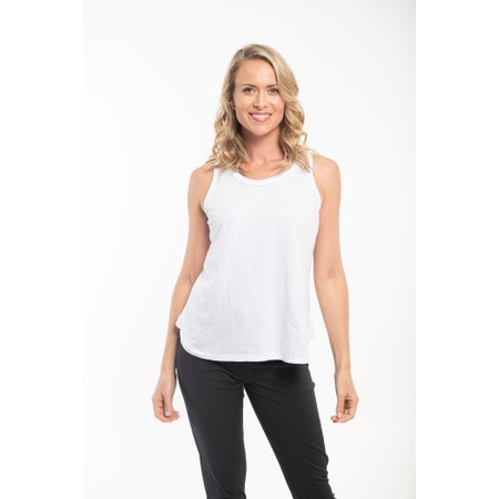 Orientique Essential Cami Tee Top - White