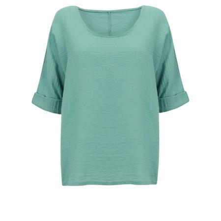 TOC  Billie Linen Mix Easy Fit Top - Green