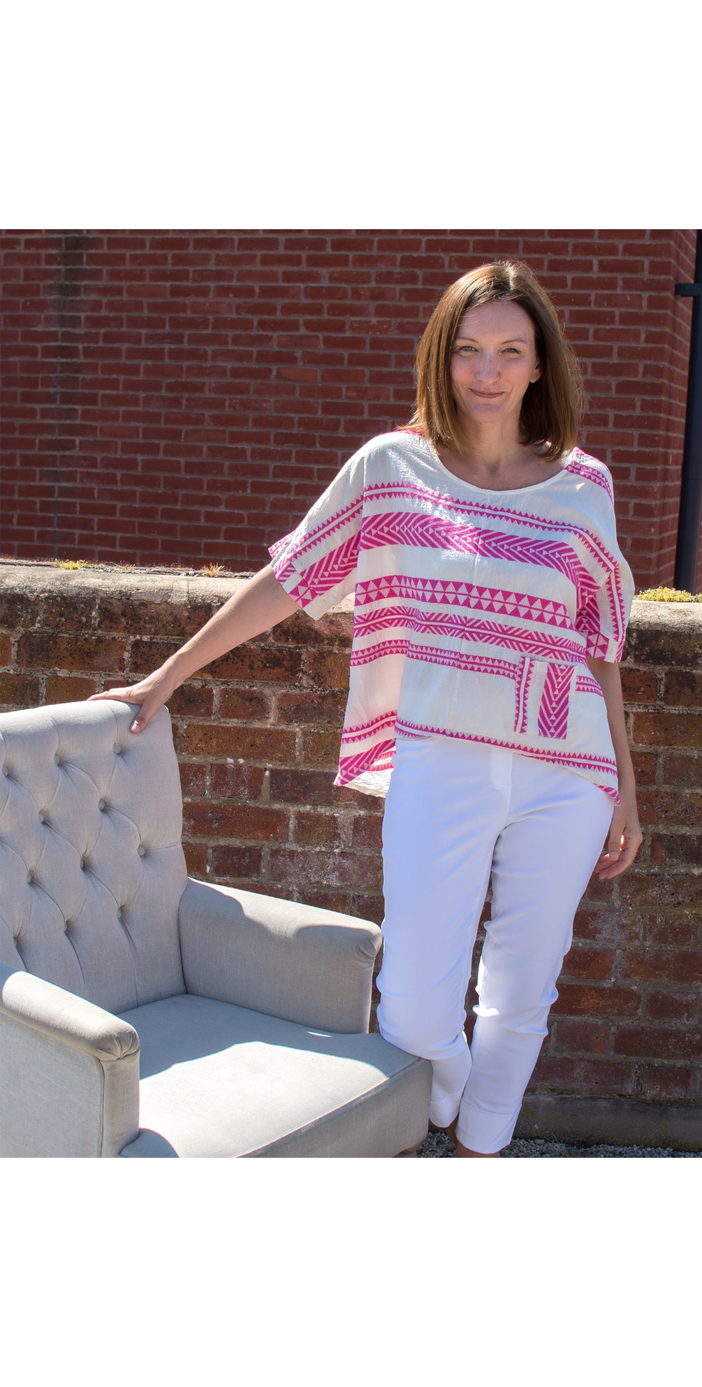 Athena Greek Style Top with Pocket main image