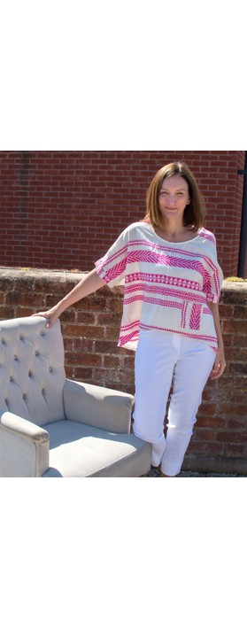TOC  Athena Greek Style Top with Pocket Fuchsia