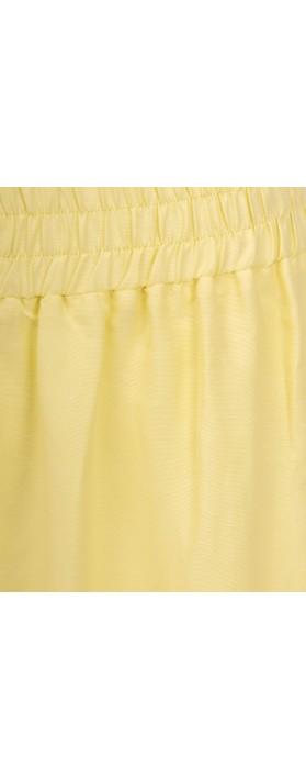 Crea Concept Wide Leg Linen Blend Trousers Lime