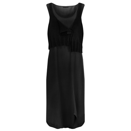 Crea Concept Knit layered Dress - Black