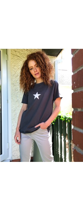 Chalk Darcey Small Star Top Charcoal