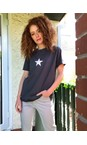 Chalk Charcoal Darcey Small Star Top
