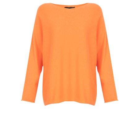 Fenella  Liberty Fine Cotton Slub Jumper - Orange