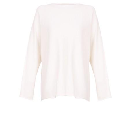 Fenella  Liberty Fine Cotton Slub Jumper - White