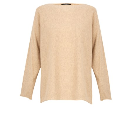Fenella  Liberty Fine Cotton Slub Jumper - Beige