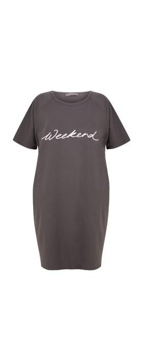 Chalk Linda Weekend Dress Charcoal / White