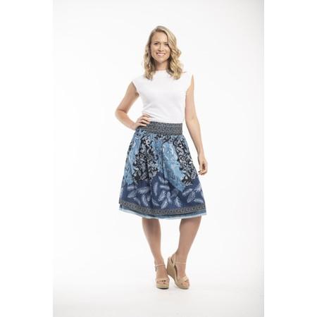 Orientique Crete Reversible Skirt - Blue