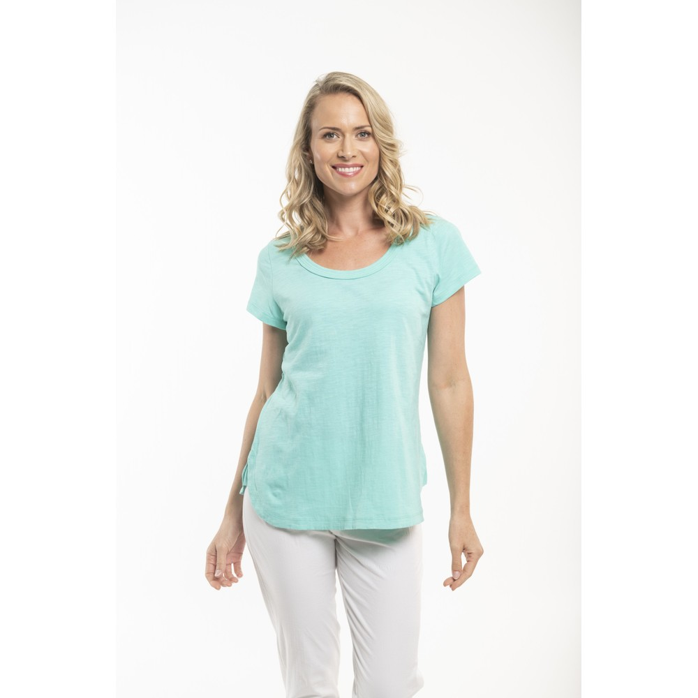 Orientique Essential Short Sleeve Top  Turquoise