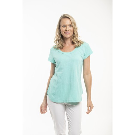 Orientique Essential Short Sleeve Top  - Turquoise