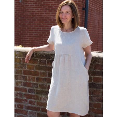 Amazing Woman  Lexia Linen Dress  - Beige