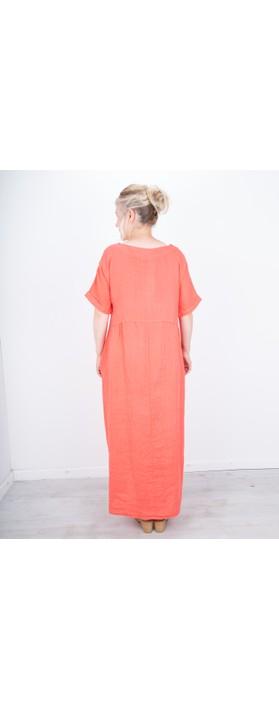 Amazing Woman Tesa Maxi Linen Dress Coral