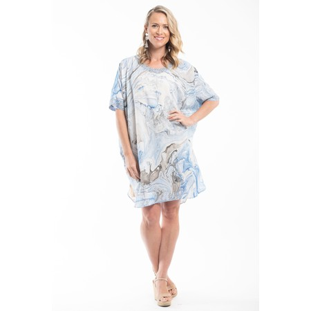 Orientique Lefkada Shift Dress Escape Collection - Blue
