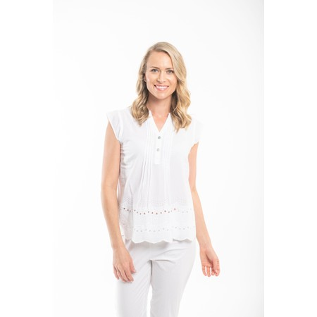 Orientique Broderie Top - White