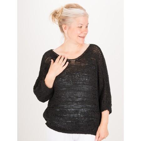 TOC  Bali Tape Yarn Easyfit Top - Black