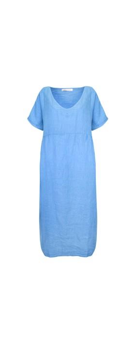 Amazing Woman Tesa Maxi Linen Dress Blue