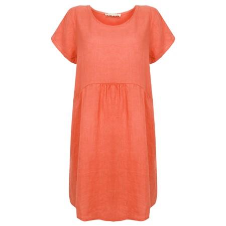 Amazing Woman  Lexia Linen Dress  - Orange