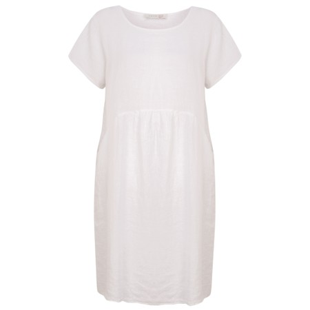 Amazing Woman  Lexia Linen Dress  - White