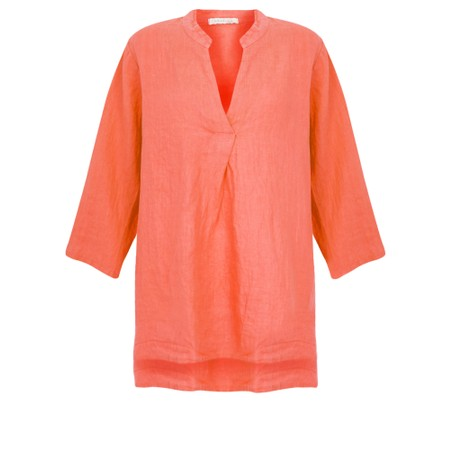 Amazing Woman  Lydia Linen Top - Orange