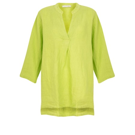 Amazing Woman  Lydia Linen Top - Green
