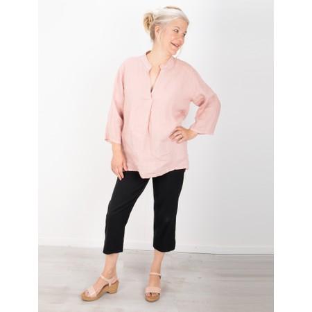 Gemini Label  Aneka Icon Leather Wedge Sandal - Pink