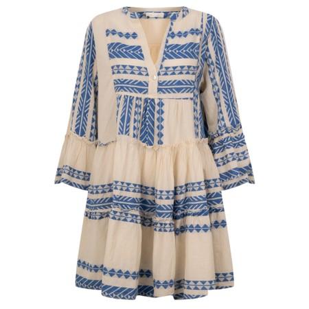 TOC  Ella Greek Style Tunic Dress - Blue