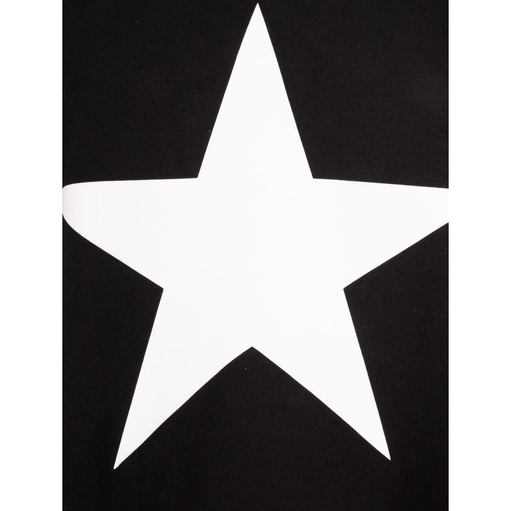 Chalk Linda Star Dress Black / White