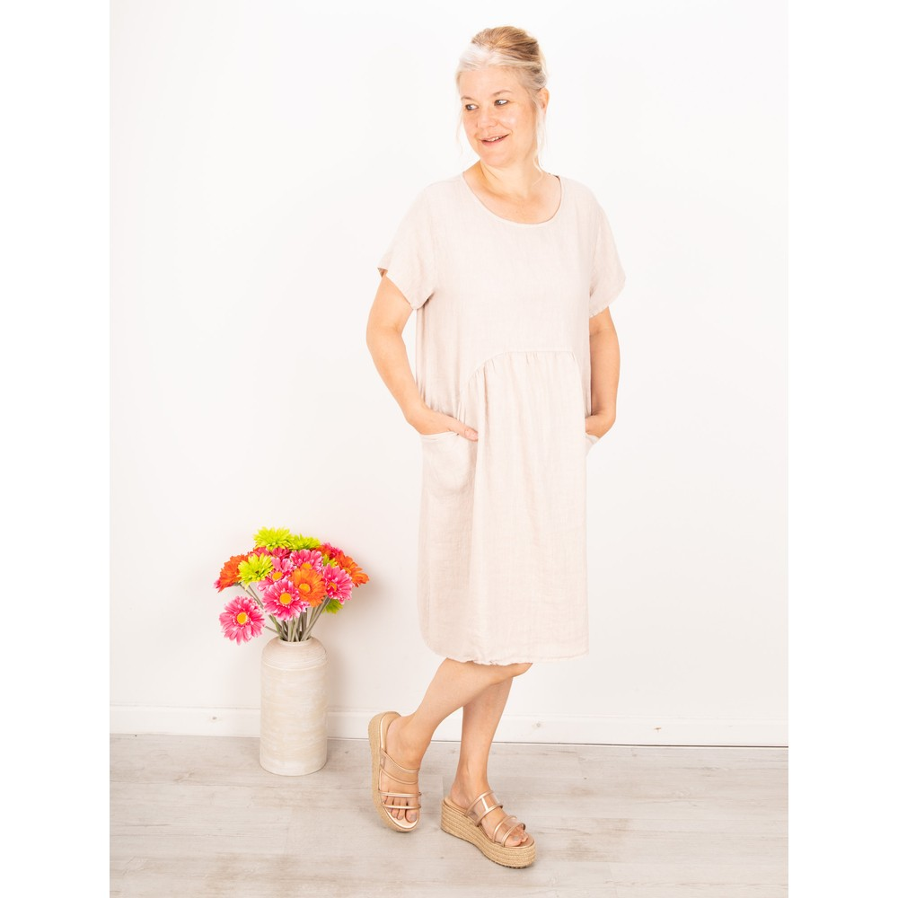 Amazing Woman Lexia Linen Dress  Natural
