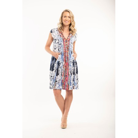 Orientique Skyros Pleated Dress  - Multicoloured