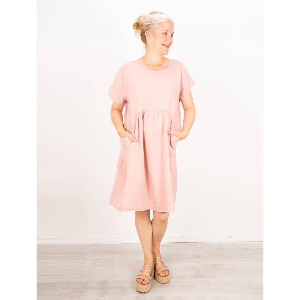 Amazing Woman Lexia Linen Dress  Rose