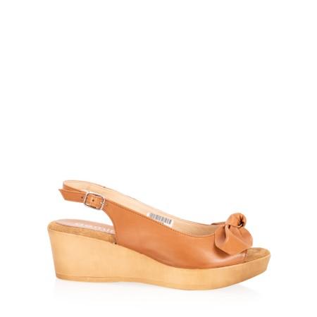 Gemini Label  Bunny Wedge Sandal  - Brown