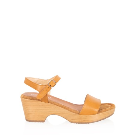 Gemini Label  Aneka Icon Leather Wedge Sandal - Brown
